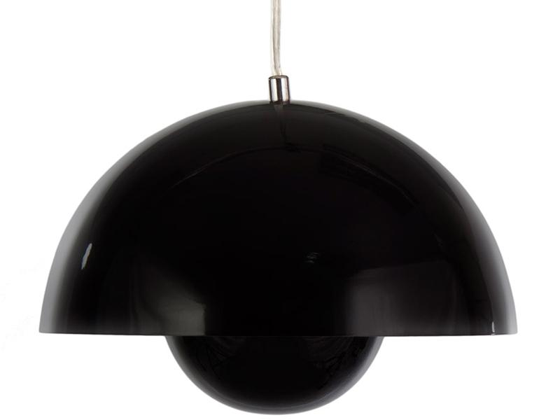 Image of the design lamp Panton Flowerpot Pendant lamp - Black
