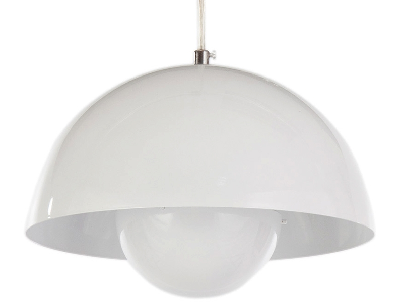 Image of the design lamp Panton Flowerpot Pendant lamp - White
