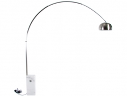 Image of the design lamp Arco floor lamp - White marble