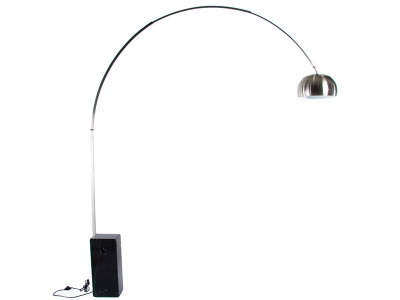 Image of the design lamp Arco floor lamp - Black marble