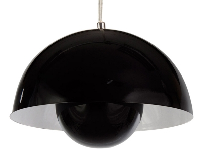 Image of the design lamp Panton Flowerpot Pendant lamp - Black