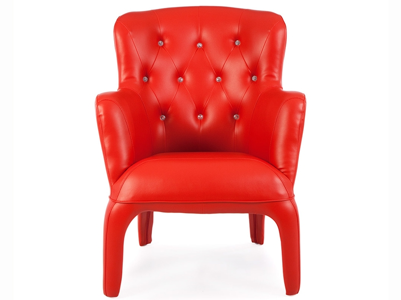 Arm Chair Henry Upholstered Red