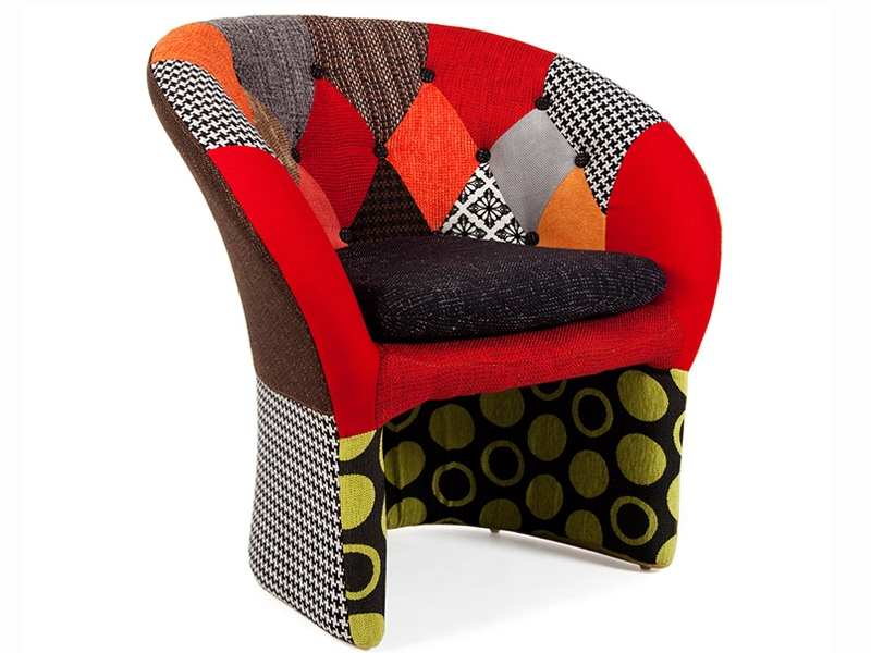 Image of the design lounge Bay Lounge armchair - Patchwork
