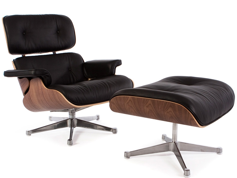 Eames lounge chair walnut for Eames lounge sessel nachbau