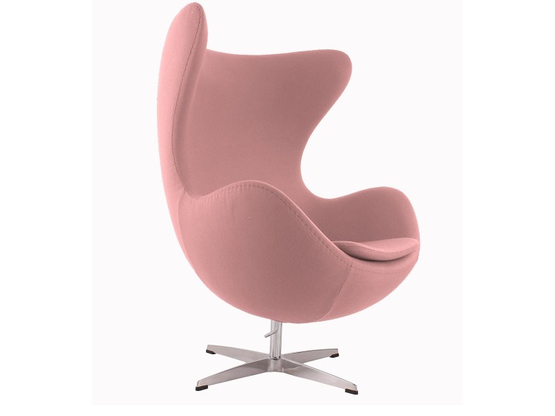 Image of the design lounge Egg Chair AJ - Light pink