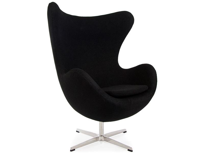 egg chair arne jacobsen black. Black Bedroom Furniture Sets. Home Design Ideas