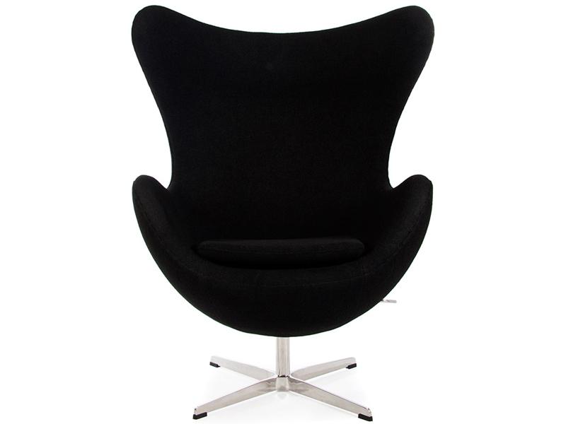 Egg chair arne jacobsen black for Replica designer sessel