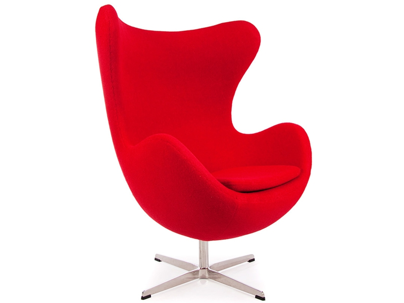 egg chair arne jacobsen red. Black Bedroom Furniture Sets. Home Design Ideas