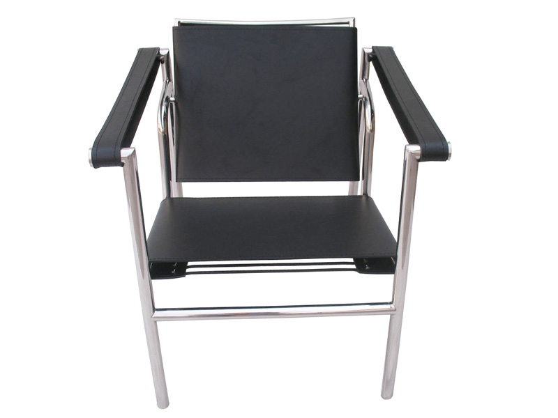 Image of the design lounge LC1 chair Le Corbusier - Black