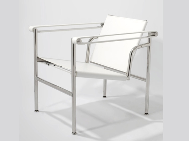 lc1 chair le corbusier white. Black Bedroom Furniture Sets. Home Design Ideas