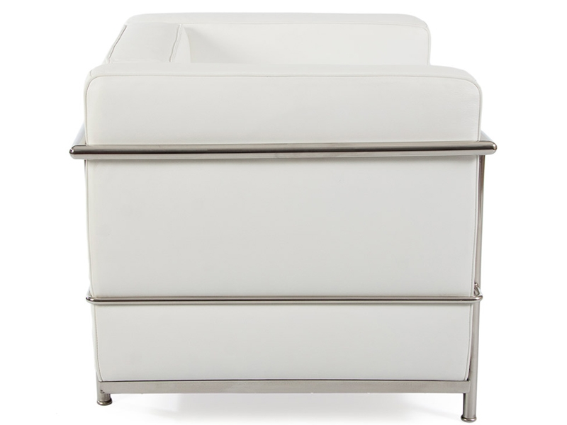 Image of the design lounge LC2 Chair Le Corbusier - White