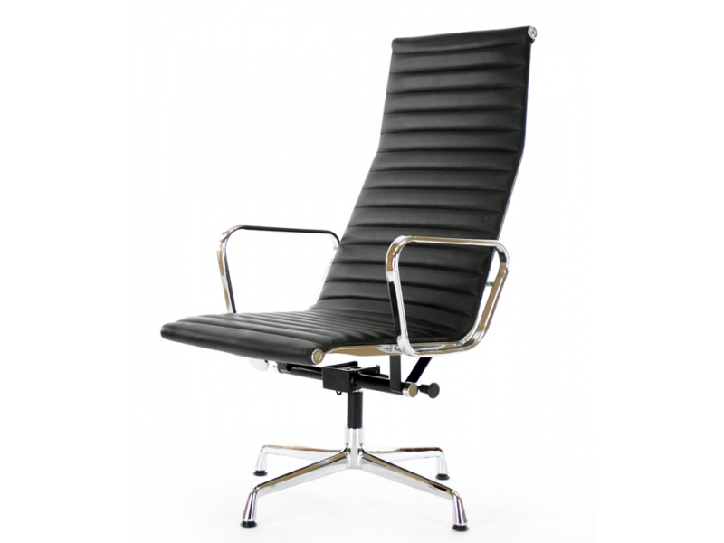 Lounge chair ea124 black for Famous chairs