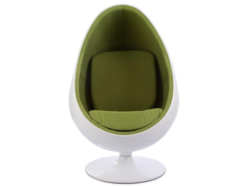 ovale egg chair green. Black Bedroom Furniture Sets. Home Design Ideas