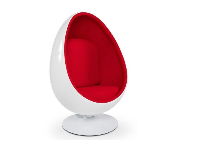 ovale egg chair red. Black Bedroom Furniture Sets. Home Design Ideas