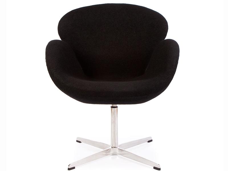 Image of the design lounge Swan chair Arne Jacobsen - Black