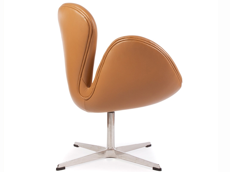 Image of the design lounge Swan chair Arne Jacobsen - Caramel