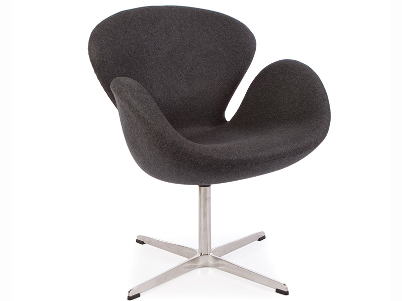 Image of the design lounge Swan chair Arne Jacobsen - Grey