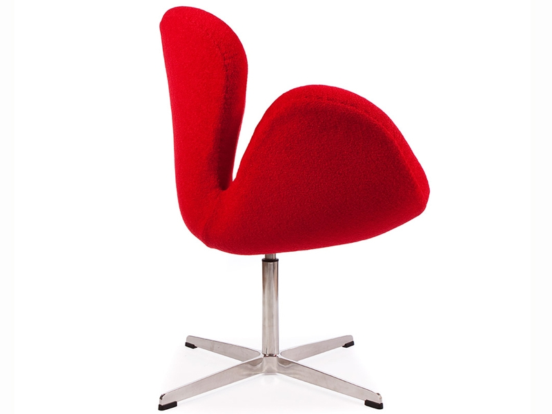 Image of the design lounge Swan chair Arne Jacobsen - Red