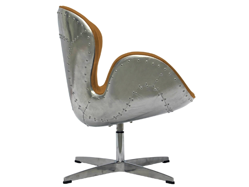 Image of the design lounge Swan Spitfire Chair AJ - Caramel