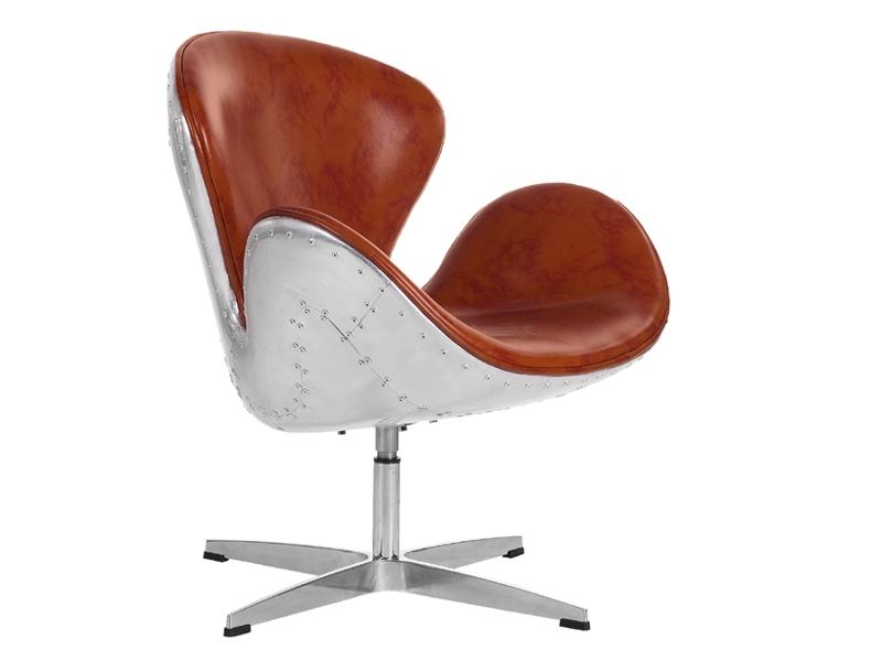 Image of the design lounge Swan Spitfire chair AJ - Havane