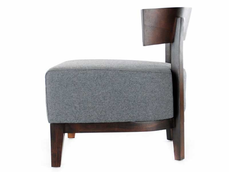 Image of the design lounge Thomas Chair - Grey