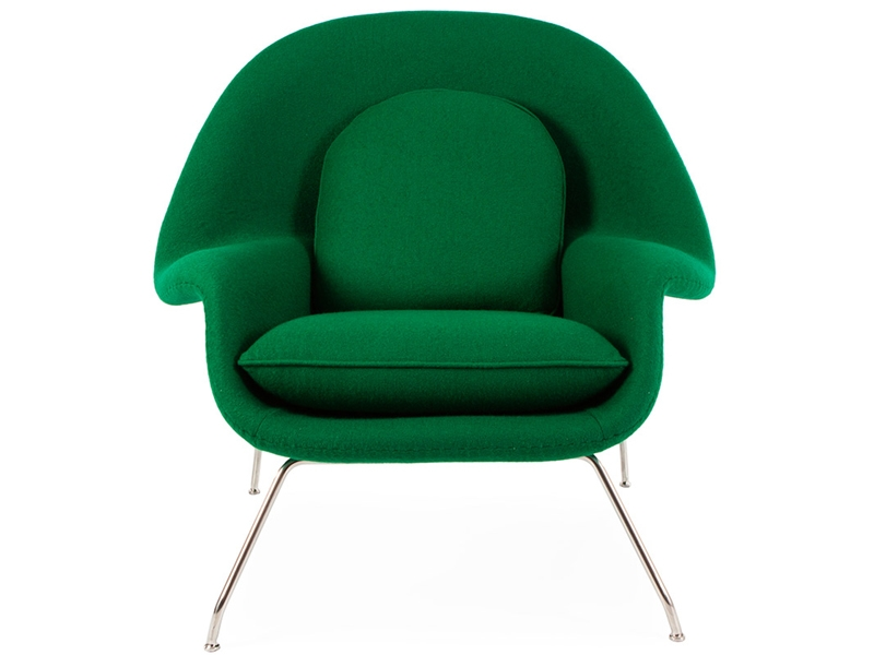 Image of the design lounge Womb chair - Emerald green