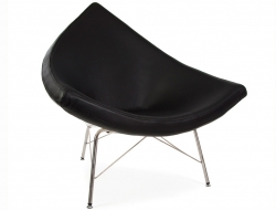 Image of the design lounge Coconut chair Nelson - Black