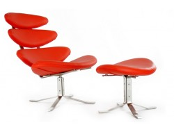Image of the design lounge Corona Chair PK - Red