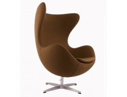 Image of the design lounge Egg Chair AJ - Chocolate brown