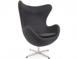 Image Of The Design Lounge Egg Chair AJ   Dark Grey
