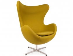 Image of the design lounge Egg Chair AJ - Olive-Green