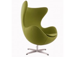 Image of the design lounge Egg Chair AJ - Olive Green