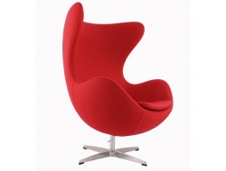 Image of the design lounge Egg Chair AJ - Red
