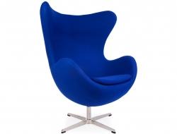 Image of the design lounge Egg chair Arne Jacobsen - Blue