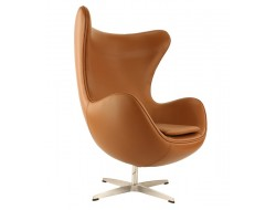 Image of the design lounge Egg Chair  Arne Jacobsen - Chocolate brown