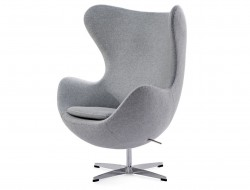 Image of the design lounge Egg Chair Arne Jacobsen - Light grey