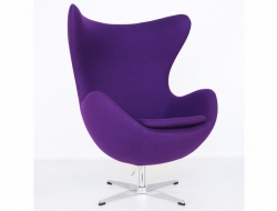 Image of the design lounge  Egg Chair Arne Jacobsen - Purple