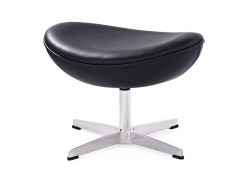 Image of the design lounge Egg Ottoman Arne Jacobsen - Black