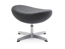 Image of the design lounge Egg Ottoman Arne Jacobsen - Grey