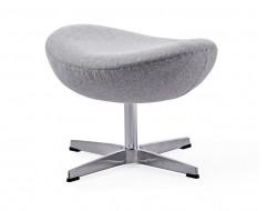Image of the design lounge Egg Ottoman Arne Jacobsen - Light grey