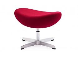 Image of the design lounge Egg Ottoman Arne Jacobsen - Red