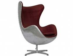 Image of the design lounge Egg Spitfire Chair AJ - Red