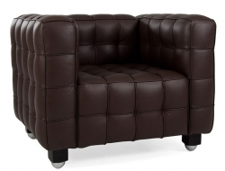 Image of the design lounge Kubus Armchair - Brown