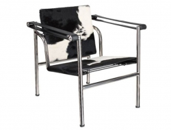 Image of the design lounge LC1 chair Le Corbusier - Pony black