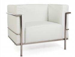 Image of the design lounge  LC2  Chair Le Corbusier Large-White