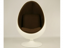Image of the design lounge Ovale Egg Chair Aarnio - Brown