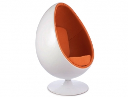 Image of the design lounge Ovale Egg chair - Orange