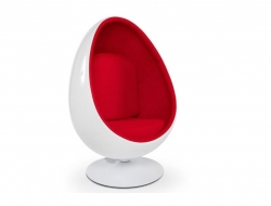 Image of the design lounge Ovale Egg Chair - Red