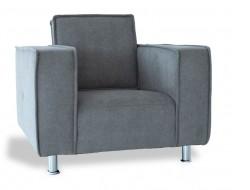"Image of the design lounge Poleric armchair - gray wool ""Elephant"""