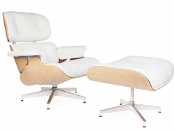 Image of the design lounge Premium Eames Lounge chair - Light walnut